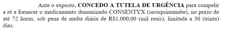 Justiça obriga plano de saúde Amil a custear tratamento com Cosentyx (secuquinumabe)