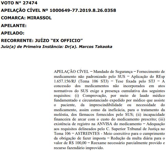 Tribunal de Justiça decida pelo fornecimento de dabrafenibe pelo SUS
