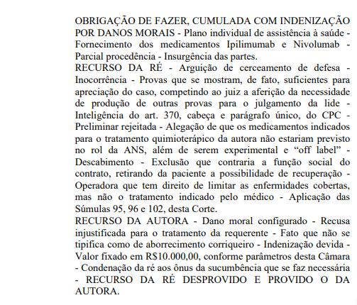 Justiça obriga plano de saúde a pagar nivolumabe
