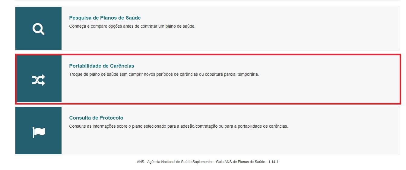 Portabilidade do plano de saúde pelo site da ANS
